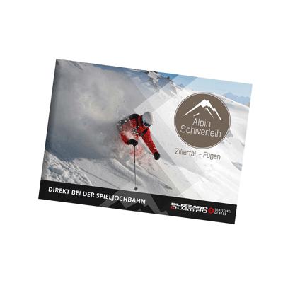 Alpin Schiverleih Broschüre