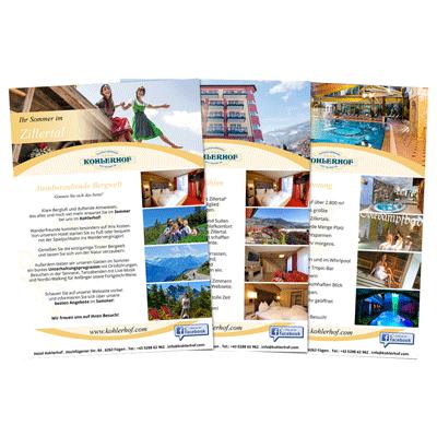 Hotel Kohlerhof Flyer